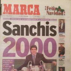 Coleccionismo deportivo: MARCA 24/DICIEMBRE/1998 SANCHIS PORTADA. Lote 64336083