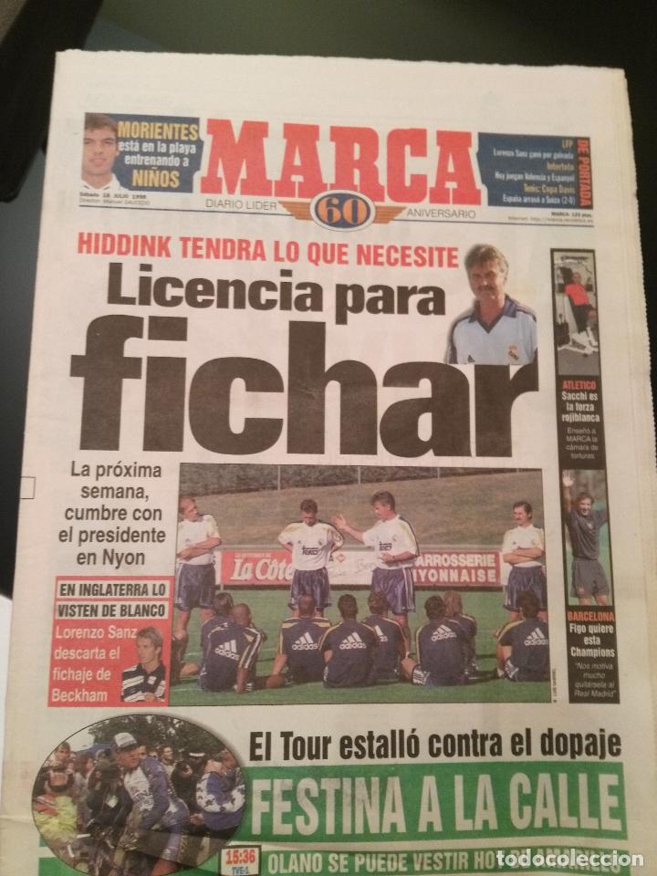 MARCA 18/JULIO/1998 HIDDINK LICENCIA PARA FICHAR (Coleccionismo Deportivo - Revistas y Periódicos - Marca)