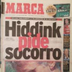 Coleccionismo deportivo: MARCA 23/NOVIEMBRE/1998 HIDDINK PIDE SOCORRO. Lote 64339931