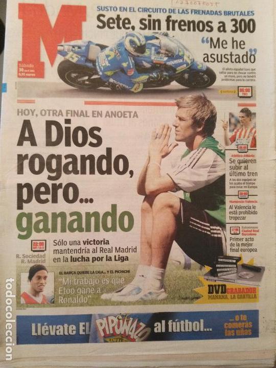 MARCA 30/ABRIL/2005 PREVIA REAL SOCIEDAD - REAL MADRID - BECKAM (Coleccionismo Deportivo - Revistas y Periódicos - Marca)