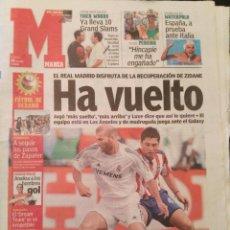 Coleccionismo deportivo: MARCA 18/JULIO/2005 EL MADRID DISFRUTA CON LA RECUPERACIÓN DE ZIDANE. Lote 64345571