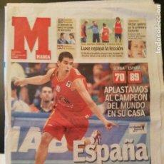 Coleccionismo deportivo: MARCA 17/SEPTIEMBRE/2005 CALDERON PORTADA - SERBIA 70 - ESPAÑA 89. Lote 64355375