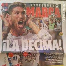 Coleccionismo deportivo: MARCA 25/MAYO/2014 LA DECIMA COPA DE EUROPA - REAL MADRID - CHAMPIONS. Lote 64362135