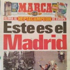Coleccionismo deportivo: MARCA 22/MAYO/1998 PASEO DE LA COPA DE EUROPA POR MADRID - LA SEPTIMA. Lote 64374015