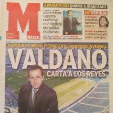 Coleccionismo deportivo: MARCA 28/DICIEMBRE/2003 VALDANO PORTADA. Lote 64374851