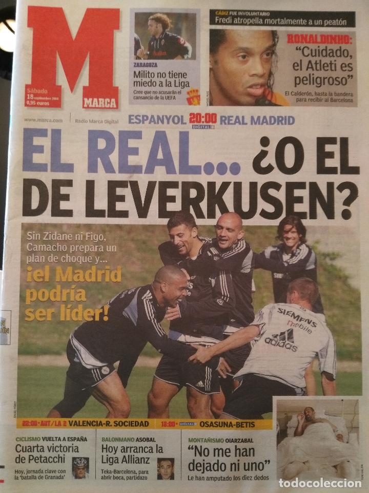 MARCA 18/SEPTIEMBRE/2004 PREVIA ESPANYOL - REAL MADRID (Coleccionismo Deportivo - Revistas y Periódicos - Marca)