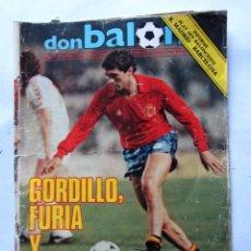 Coleccionismo deportivo: REVISTA DON BALÓN Nº445 1984 GORDILLO/INFORME BASKET R. MADRID-BARCELONA . Lote 64844147
