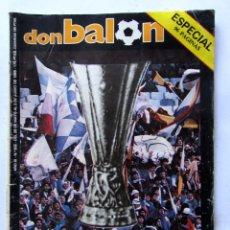 Coleccionismo deportivo: REVISTA DON BALÓN Nº502 1985 ESPECIAL EUROMADRID 96 PÁGINAS (CON PÓSTER). Lote 64845931