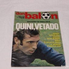 Coleccionismo deportivo: REVISTA DON BALON Nº 294 PORTADA DE QUINI Y POSTER DEL C.D. CASTELLON VINTAGE . Lote 64889727