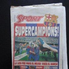 Coleccionismo deportivo: SPORT 4.514 8 JUNIO 1992 FC BARCELONA SUPERCAMPIONS 1A LIGA CRUYFF BARÇA TENERIFE. Lote 65559806