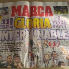 Coleccionismo deportivo: DIARIO MARCA DEL 29/05/2016 - REAL MADRID CAMPEÓN DE LA UEFA CHAMPIONS LEAGUE 2016. Lote 65851402