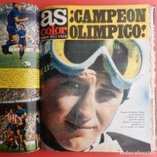 Coleccionismo deportivo: TOMO REVISTA AS COLOR - LOTE 18 REVISTAS CONSECUTIVAS Nº 28 AL 45 AÑO 1971 1972 INCLUYE POSTER 71 72. Lote 66302790