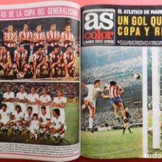 Coleccionismo deportivo: TOMO REVISTA AS COLOR - LOTE 17 REVISTAS CONSECUTIVAS Nº 46 AL 62 AÑO 1972 INCLUYE POSTER 72. Lote 66324214