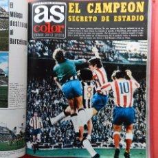 Coleccionismo deportivo: TOMO REVISTA AS COLOR - LOTE 17 REVISTAS CONSECUTIVAS Nº 85 AL 101 AÑO 1973 INCLUYE POSTER 73. Lote 66742974