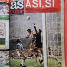 Coleccionismo deportivo: TOMO REVISTA AS COLOR - LOTE 17 REVISTAS Nº 137 AL 154 AÑO 1974 INCLUYE POSTERS 74 ATLETICO. Lote 67281941