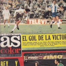 Coleccionismo deportivo: REVISTA DEPORTIVA AS COLOR Nº 136 CON CARTEL DE RACING DE SANTANDER . Lote 67573785