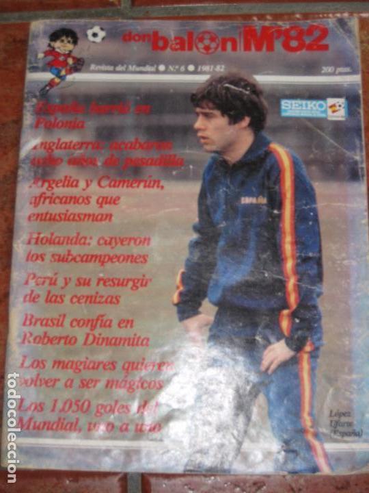 REVISTA DON BALON . MUNDIAL FUTBOL 82 Nº 6 . (Coleccionismo Deportivo - Revistas y Periódicos - Don Balón)