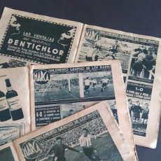 Coleccionismo deportivo: 3 SUPLEMENTOS GRÁFICOS MARCA 1943 1944 ATLÉTICO MADRID. Lote 67843281