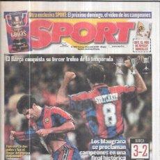 Coleccionismo deportivo: DIARIO SPORT. 1997. Nº 6345. EL BARÇA CONQUISTA SU TERCER TROFEO DE LA TEMPORADA. REY DE COPAS. Lote 68214953