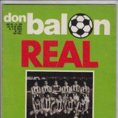 Coleccionismo deportivo: DON BALÓN Nº 290 REAL CAMPEÓN, REAL SOCIEDAD. Lote 68381345