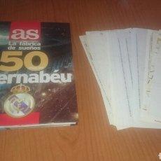 Coleccionismo deportivo: AS ÁLBUM-LIBRO ESPECIAL 50 AÑOS DEL BERNABEU COMPLETO Y CON LAS LÁMINAS SIN LOS CROMOS COMPLETAS!.. Lote 68550063