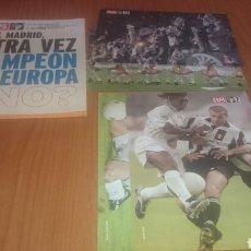 Coleccionismo deportivo: AS Y EL MADRID QUE OTRA VEZ CAMPEÓN DE EUROPA CARPETA MÁS 4 LÁMINAS.. Lote 68560293