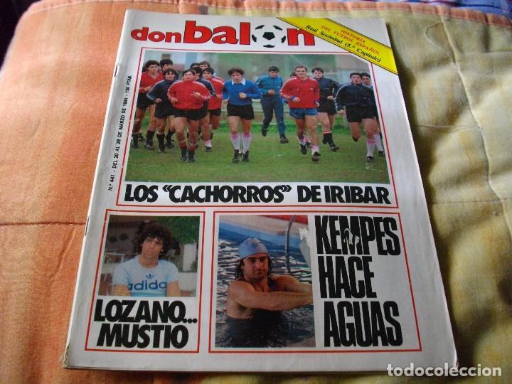 FÚTBOL.REVISTA 'DON BALÓN' DEL 20 AL 26 DE MARZO DE 1984 . POSTER BILBAO ATH (Coleccionismo Deportivo - Revistas y Periódicos - Don Balón)