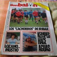 Coleccionismo deportivo: FÚTBOL.REVISTA 'DON BALÓN' DEL 20 AL 26 DE MARZO DE 1984 . POSTER BILBAO ATH. Lote 68816213