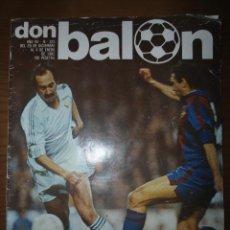 Coleccionismo deportivo: ANTIGUA REVISTA DEPORTIVA DON BALON NUM 325 - 1982 - DERBY REAL MADRID BARCELONA. Lote 68833637