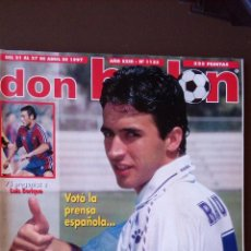 Coleccionismo deportivo: REVISTA DON BALON - NUMERO 1123 - INCLUYE POSTER GUERRERO. Lote 68965021