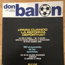 Coleccionismo deportivo: REVISTA DON BALON 20 JUJIO 1976 NUMERO 42 COE MILJANIC REAL MADRID HELMANTICO SALAMANCA. Lote 69429857