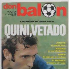 Coleccionismo deportivo: REVISTA DON BALON 26 DE MAYO AL 1 DE JUNIO 1981 Nº 294 POSTER C.D.CASTELLON VER FOTOS. Lote 69677197