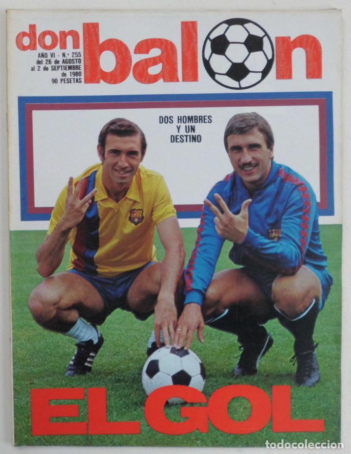 REVISTA DON BALON DEL 26 AGOSTO AL 2 SEPTIEMBRE DE DE 1980 Nº 255 POSTER JUGADORES VER FOTOS (Coleccionismo Deportivo - Revistas y Periódicos - Don Balón)