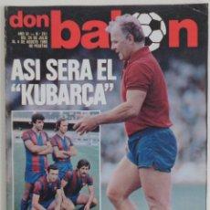 Coleccionismo deportivo: REVISTA DON BALON DEL 29 JULIO AL 4 AGOSTO DE 1980 Nº 251 POSTER BARCELONA AT.BILBAO VER FOTOS. Lote 69683569