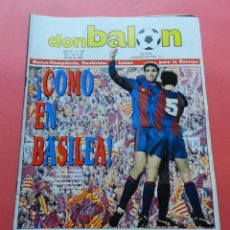 Coleccionismo deportivo: REVISTA DON BALON Nº 708 POSTER ARCONADA REAL SOCIEDAD 88/89 PREVIO FINAL RECOPA BARCELONA 1988/1989. Lote 69822665