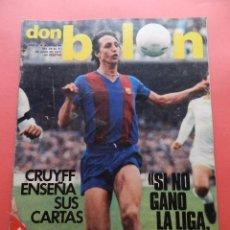 Coleccionismo deportivo: REVISTA DON BALON Nº 94 POSTER CRUYFF FC BARCELONA 77/78 TEMPORADA 1977/1978 BARÇA ZICO FUTBOL VASCO. Lote 69829441