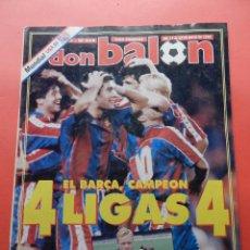 Coleccionismo deportivo: REVISTA DON BALON Nº 968 ESPECIAL FC BARCELONA CAMPEON LIGA 93/94 POSTER PLANTILLA BARÇA 1993/1994. Lote 69912601