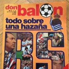 Coleccionismo deportivo: REVISTA DON BALON NUMERO 291 ESPECIAL CAMPEON LIGA REAL SOCIEDAD 1980 1981 POSTER. Lote 70266005
