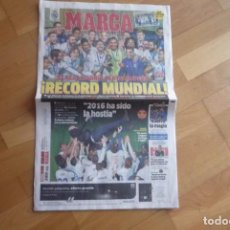 Coleccionismo deportivo: MARCA,MUNDIAL DE CLUBES 2016. REAL MADRID 4- KASHIMA ANTLERS 2. NUEVO.. Lote 71519939