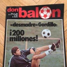 Coleccionismo deportivo: DON BALON NUMERO 253 18 AGOSTO 1980 GORDILLO PORTEROS MIGUEL ANGEL BUYO PATRICK DEPAILLER . Lote 71604079