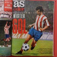 Coleccionismo deportivo: TOMO REVISTA AS COLOR - LOTE 18 REVISTAS Nº 172 AL 189 AÑO 1974 IRIBAR GARATE ESPAÑA 74 POSTER. Lote 71882619