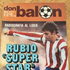 Coleccionismo deportivo: DON BALON 273 6 ENERO 1981 RUBIO ATLETICO MADRID LIDER POSTER REAL SOCIEDAD. Lote 71910199