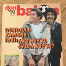 Coleccionismo deportivo: DON BALON 274 12 ENERO 1981 GORDILLO ZAMORA BOTA DE ORO RUMMENIGGE SCHUSTER POSTER REAL MADRID. Lote 71910419