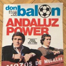 Coleccionismo deportivo: DON BALON 277 2 FEBRERO 1981 SEVILLA BETIS 100 GOLES SATRUSTEGUI DIARTE MORETE GORDILLO MONTERO. Lote 71911031
