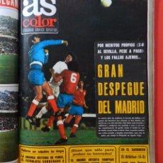 Coleccionismo deportivo: TOMO REVISTA AS COLOR - LOTE 17 REVISTAS Nº 242 AL 258 AÑO 1976 REAL MADRID ATLETICO BARÇA POSTER. Lote 71911599