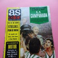 Coleccionismo deportivo: REVISTA AS COLOR Nº 319 REAL BETIS BALOMPIE CAMPEON COPA DEL REY 76/77 ATHLETIC 1976/1977-POSTER F1. Lote 72458279