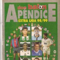 Coleccionismo deportivo: DON BALÓN. APENDICE EXTRA LIGA 98 / 99. Nº 1202. (Z/28). Lote 72506835