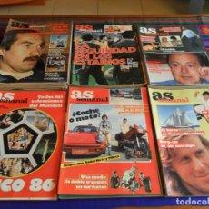 Coleccionismo deportivo: LOTE 68 NºS AS SEMANAL ENTRE EL Nº 3 Y EL 95 Y 198. AÑO 1986. REGALO AS COLOR EXTRA 80. BUEN ESTADO.. Lote 72581251