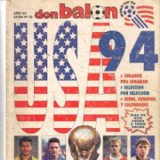 Collectionnisme sportif: DON BALÓN. EXTRA Nº 25. USA ´94. (Z/28). Lote 72604271