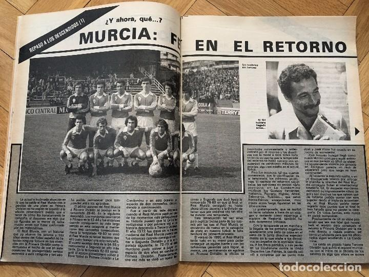 Coleccionismo deportivo: DON BALON 292 18 MAYO 1981 SCHUSTER KUBALA STIELIKE MURCIA REAL MADRID BARCELONA - Foto 2 - 72735735